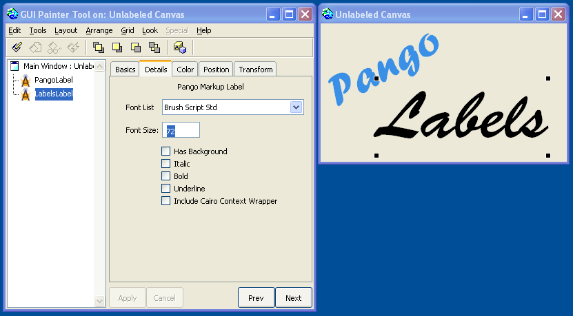 PangoMarkupLabel Image 1